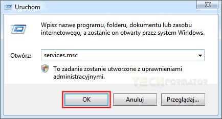 Windows - polecenie uruchom