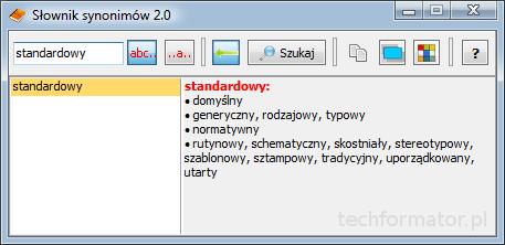 Darmowy słownik synonimów 2.0