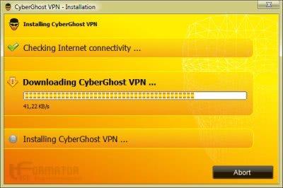 Pobieranie paczki instalacyjnej CyberGhost