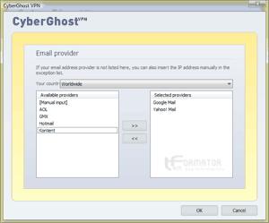 Wybór serwerów pocztowych