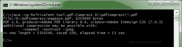 Multivalent PDF Tools - kompresja PDF