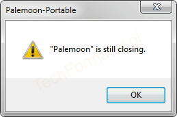 Palemoon is still closing