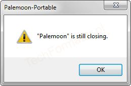 Palemoon is still closing