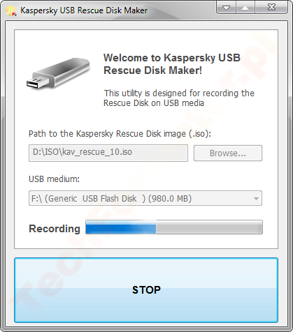 Kaspersky USB Rescue Disk Maker