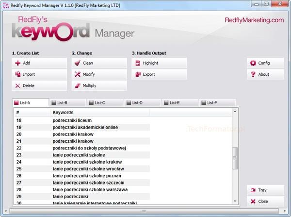 Zarządzanie słowami kluczowymi AdWords