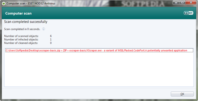 False Positive alert Eset Nod CodeFort