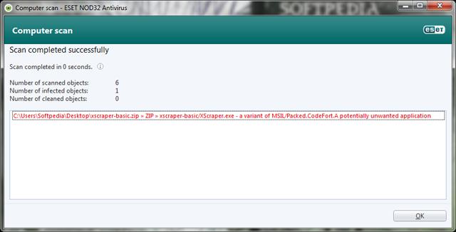 False Positive alert Eset Nod CodeFort