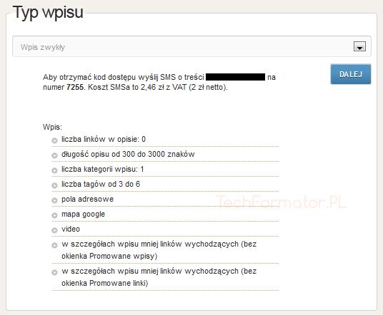 Katalog WpKat - wpis zwykły