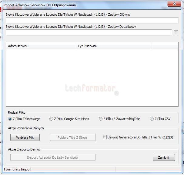 PSM import adresów