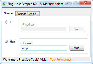 Bing Host Scraper