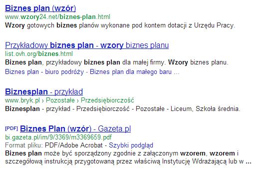 Wyniki wyszukiwania biznes plan wzór