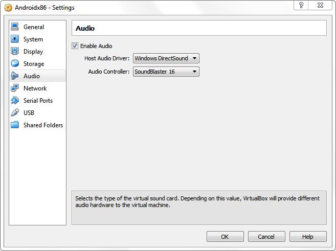 Audio VirtualBox