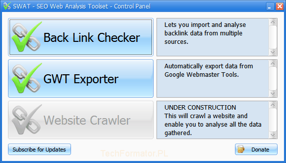 Seo web analysis toolset