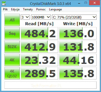 Benchmark Samsung SSD 840