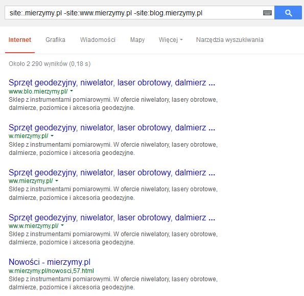 Duplikaty w indeksie Google