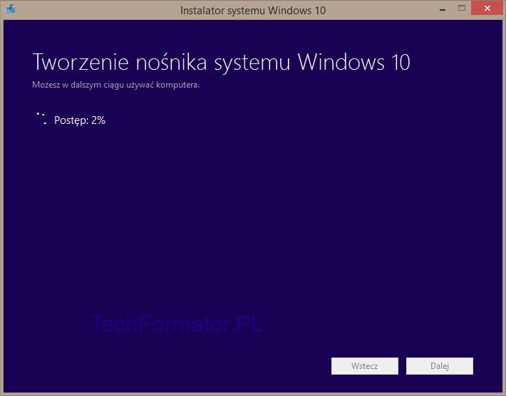 Tworzenie nośnika systemu Windows 10