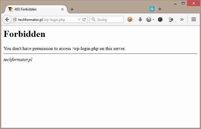 Wp-login Forbidden