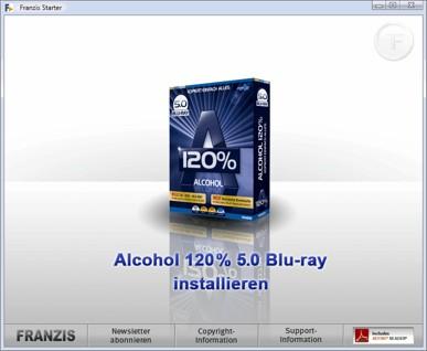 Alcohol 120% Starter
