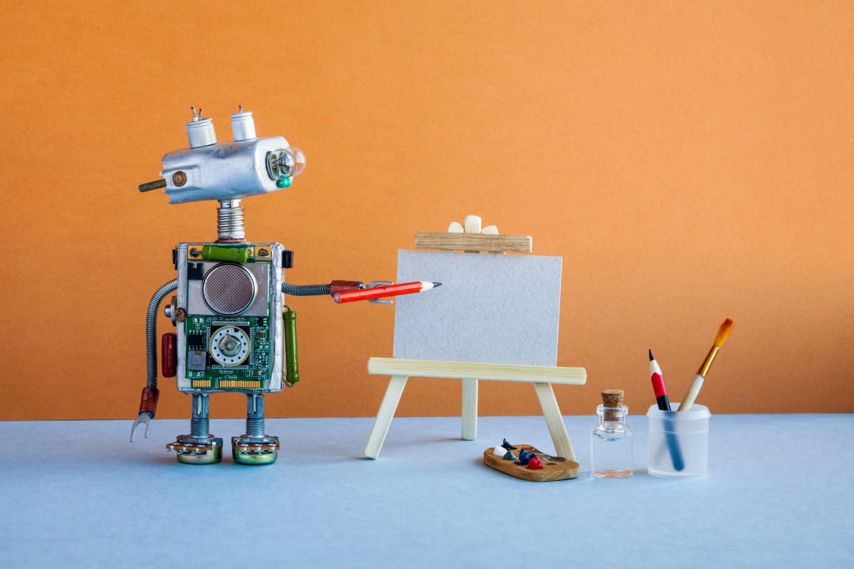 robot pisze