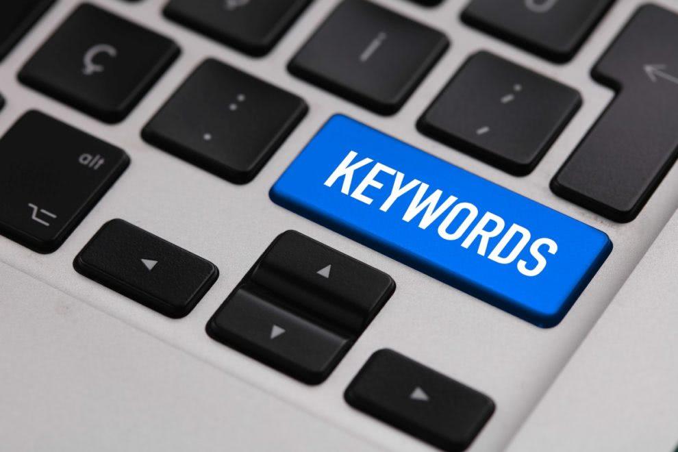 napis keywords na klawiaturze