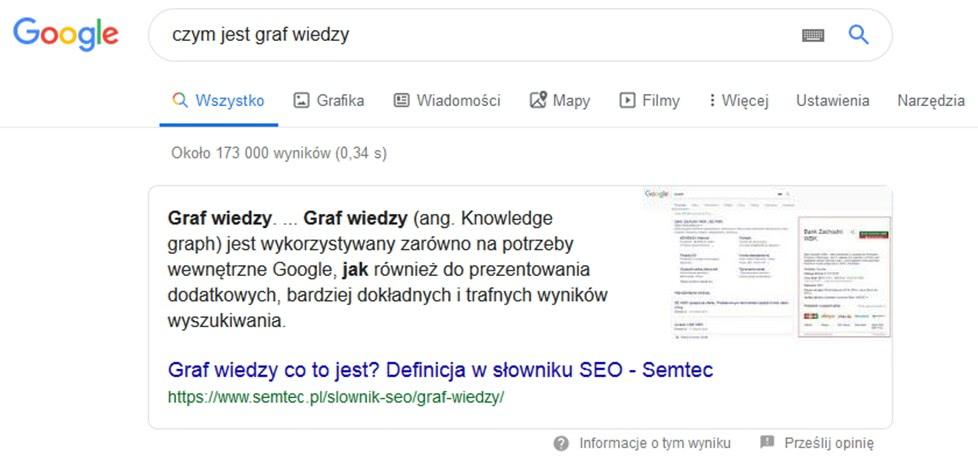 Graf wiedzy Google