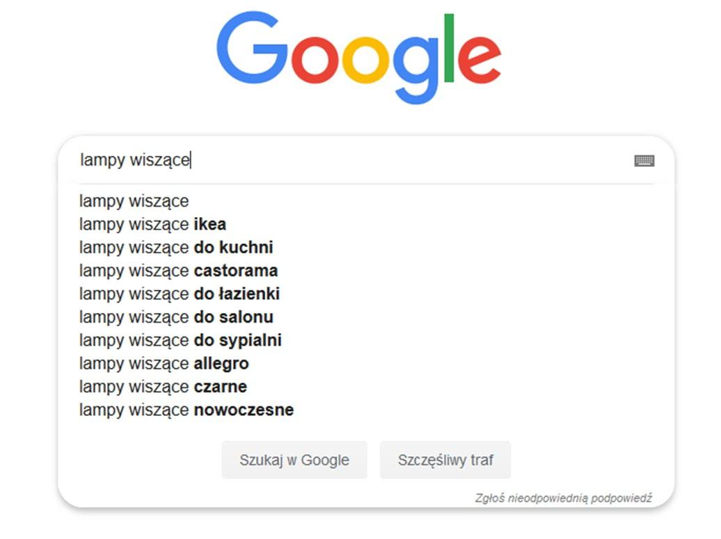 Podpowiedzi Google