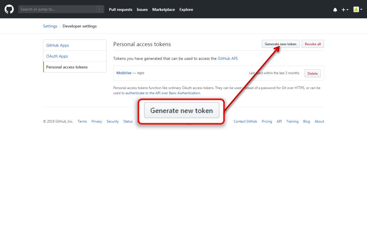 GitHub Generate New Token