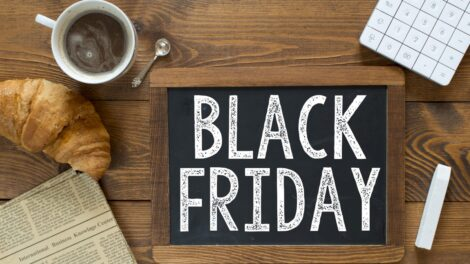 Tabliczka z napisem Black Friday