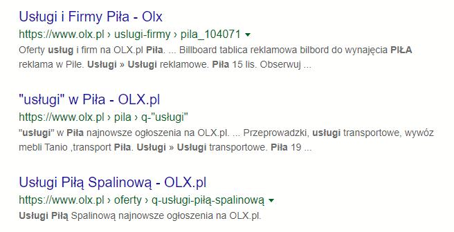 Usługi OLX