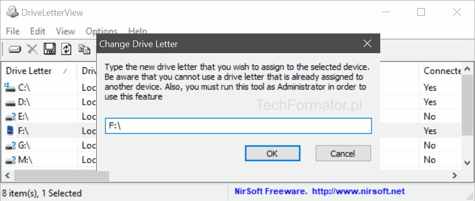 Assign Drive Letter - DriveLetterView
