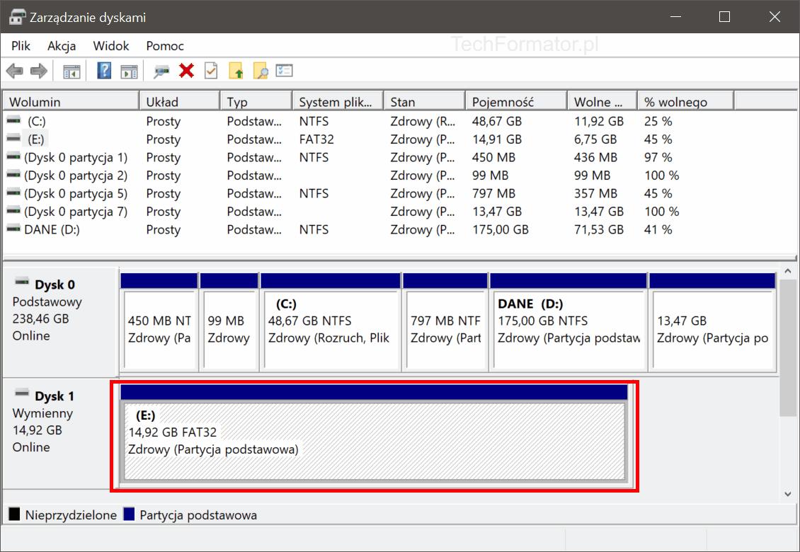 Zarządzanie dyskami w Windows
