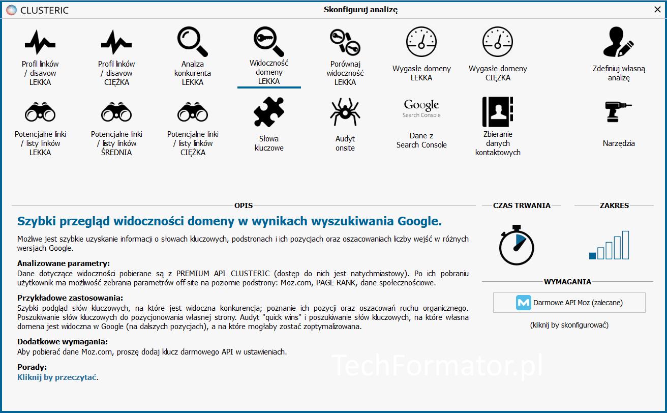 Widoczność domeny w Clusteric