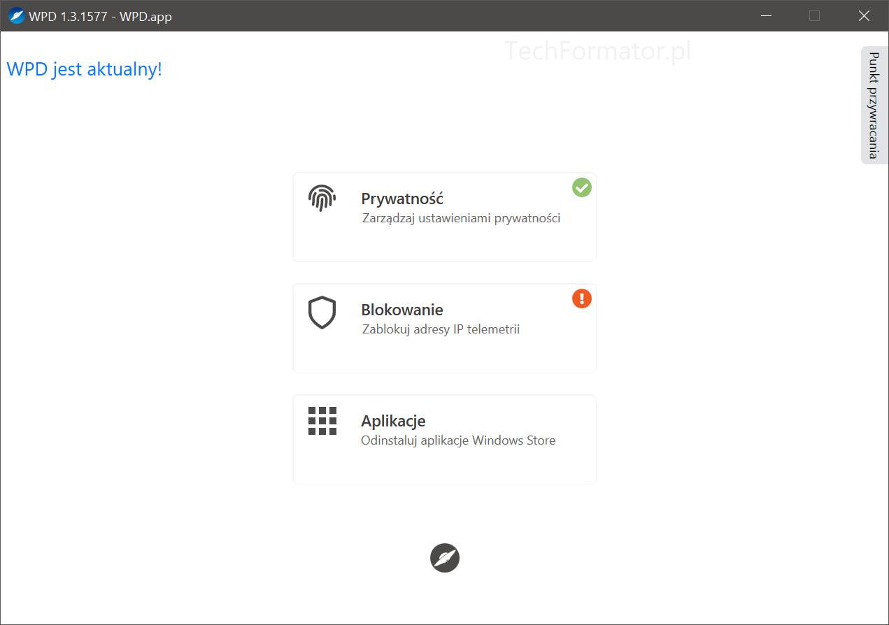WPD - prywatność w Windows 10