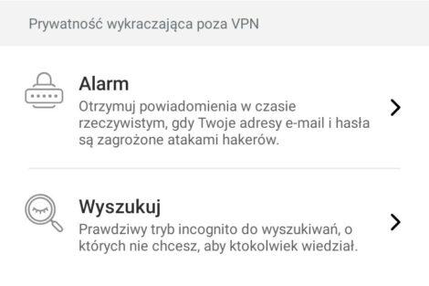 Funkcje Surfshark VPN na smartfonie